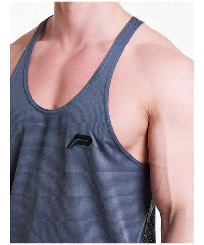 Pursue Fitness Mesh Back Stringer Vest Grey-Pursue Fitness-Gym Wear