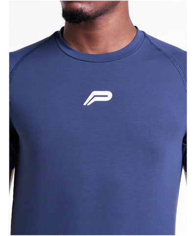Pursue Fitness Icon T-Shirt Blue-Pursue Fitness-Gym Wear