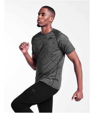 Pursue Fitness Breatheasy Eva T-Shirt Charcoal