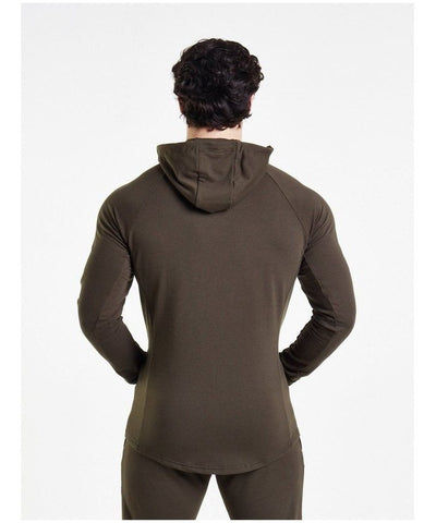 Pursue Fitness Response Zip Up Hoodie Olive-Pursue Fitness-Gym Wear