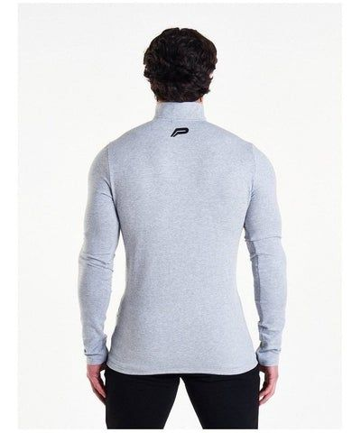 Pursue Fitness Performance Quarter Zip Grey-Pursue Fitness-Gym Wear