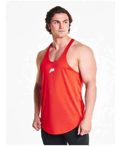 Pursue Fitness Essential Breatheasy Stringer Vest Red-Pursue Fitness-Gym Wear