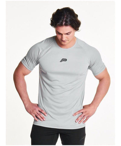 Pursue Fitness Essential Breatheasy T-Shirt Light Grey-Pursue Fitness-Gym Wear