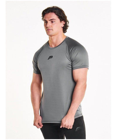 Pursue Fitness Essential Breatheasy T-Shirt Grey-Pursue Fitness-Gym Wear