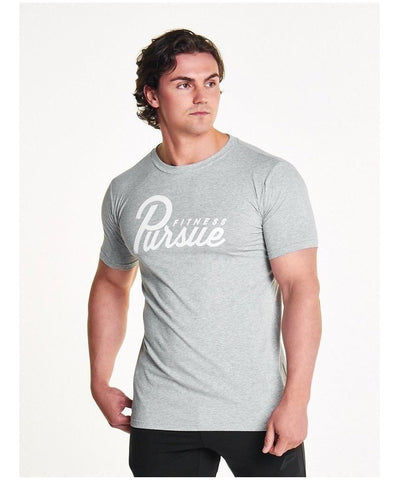 Pursue Fitness Classic T-Shirt Grey-Pursue Fitness-Gym Wear