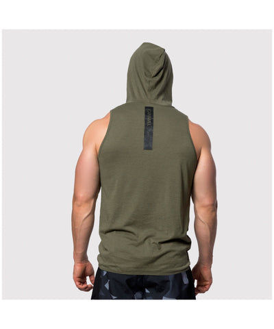 ICIW SL Hoodie Tri-Blend Tank Army Green-ICIW-Gym Wear