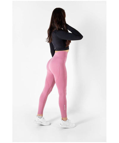 Famme Vortex High Waisted Leggings Rose-Famme-Gym Wear