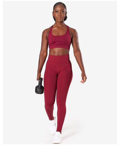 ICIW Classic High Waisted Leggings Burgundy