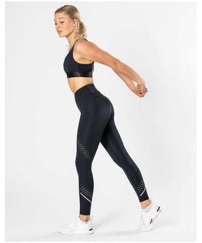 ICIW 7/8 Stripe High Waisted Leggings Black