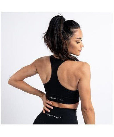 Squat Wolf Hera Sports Bra Black-Squat Wolf-Gym Wear
