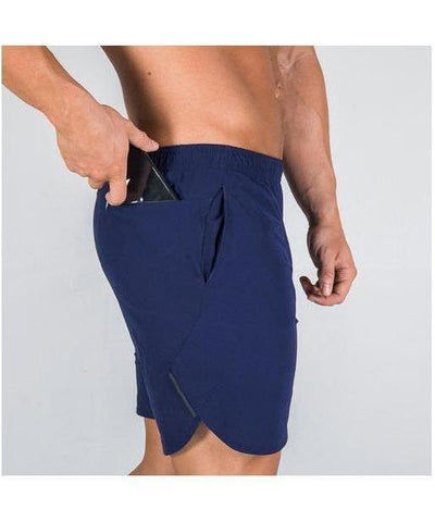 Squat Wolf 2-in-1 Dry Tech Shorts Blue-Squat Wolf-Gym Wear