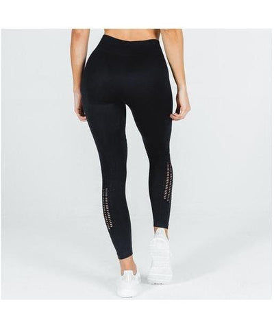 Squat Wolf She Wolf Seamless Leggings Black-Squat Wolf-Gym Wear