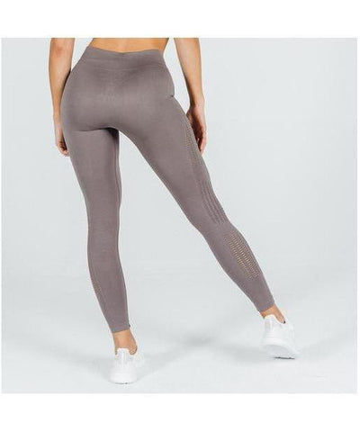 Squat Wolf She Wolf Seamless Leggings Beige-Squat Wolf-Gym Wear