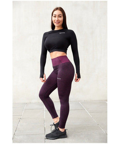 Famme Essential Seamless High Waisted Leggings Lavender-Famme-Gym Wear