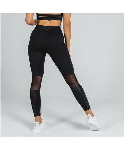 Squat Wolf Mesh Leggings Black-Squat Wolf-Gym Wear
