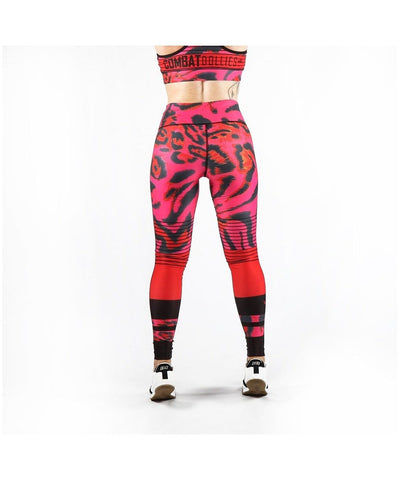 Combat Dollies Pink Leopard Fitness Leggings