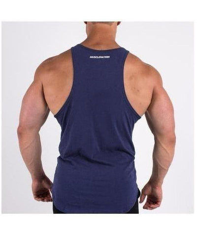 Muscle Nation Essential Vest Navy-Muscle Nation-Gym Wear