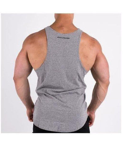 Muscle Nation Essential Vest Grey-Muscle Nation-Gym Wear