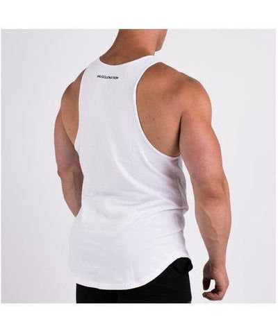 Muscle Nation Essential Vest White-Muscle Nation-Gym Wear