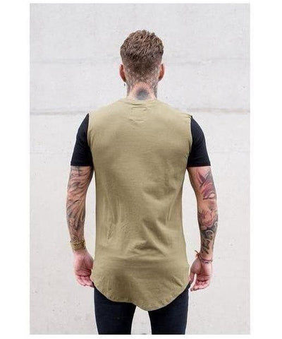Sinners Attire Muscle T-Shirt Khaki/Black-Sinners Attire-Gym Wear