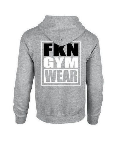 Mens FKN Gym Wear Hoodie Grey-FKN Gym Wear-Gym Wear