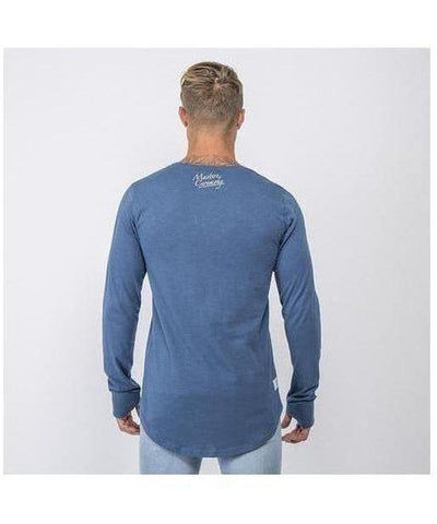 Masters Of Ceremony Boston Long Sleeve T-Shirt Petrol-Masters Of Ceremony-Gym Wear