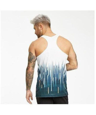 Muscle Monkey Digital Grain Vest White-Muscle Monkey-Gym Wear