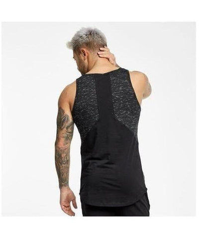 Muscle Monkey Dark Matter Panelled Sleeveless T-Shirt Black-Muscle Monkey-Gym Wear
