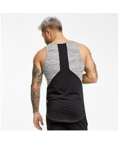 Muscle Monkey Storm Panelled Sleeveless T-Shirt Grey-Muscle Monkey-Gym Wear