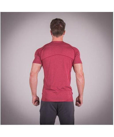 Squat Wolf Seamless Dry Knit T-Shirt Red-Squat Wolf-Gym Wear