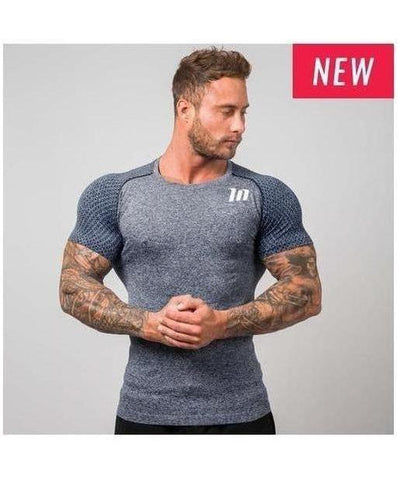 Muscle Nation Ghost Seamless T-Shirt Navy-Muscle Nation-Gym Wear