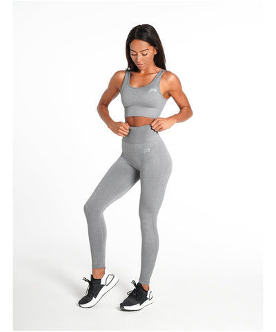 Pursue Fitness ADAPT Seamless Sports Bra Light Grey-Pursue Fitness-Gym Wear