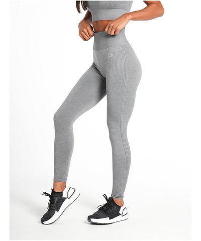 Pursue Fitness ADAPT Seamless Leggings Light Grey-Pursue Fitness-Gym Wear