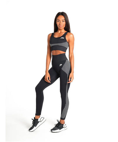 Pursue Fitness ADAPT Seamless Sports Bra Black-Pursue Fitness-Gym Wear