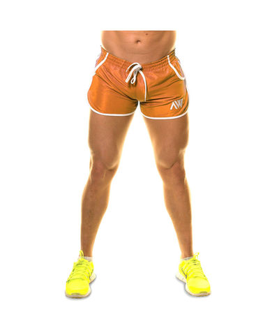 Aspire Wear Aesthetic Shorts Orange-Aspire Wear-Gym Wear