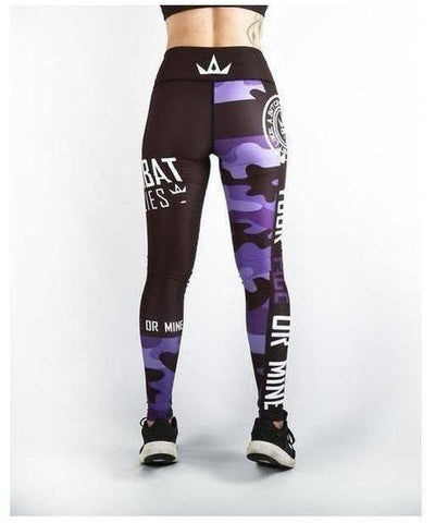 Combat Dollies Fitness Leggings Purple Camo