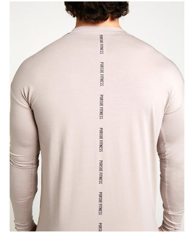 Pursue Fitness Ultra Lifestyle Long sleeve T-Shirt Grey-Pursue Fitness-Gym Wear