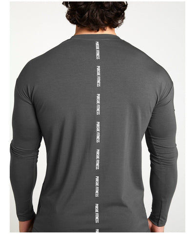 Pursue Fitness Ultra Lifestyle Long sleeve T-Shirt Slate-Pursue Fitness-Gym Wear