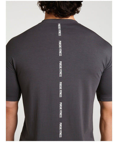 Pursue Fitness Ultra Lifestyle T-Shirt Slate-Pursue Fitness-Gym Wear