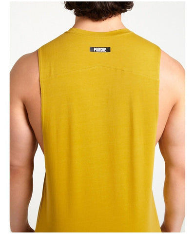 Pursue Fitness Est.2013 Tank Yellow-Pursue Fitness-Gym Wear