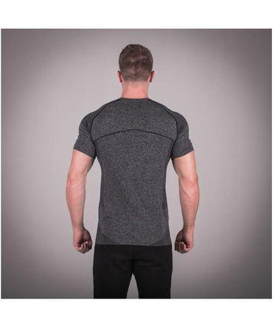 Squat Wolf Seamless Dry Knit T-Shirt Grey-Squat Wolf-Gym Wear