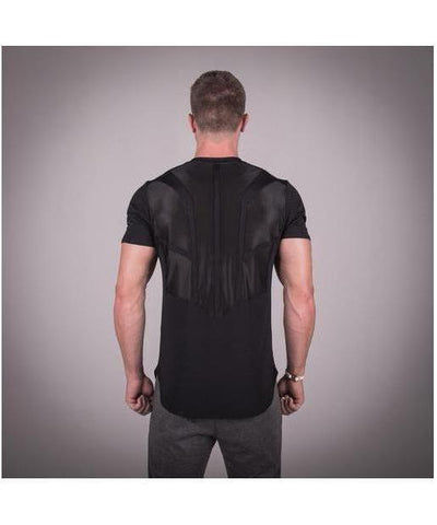 Squat Wolf Razor Back T-shirt Jet Black-Squat Wolf-Gym Wear
