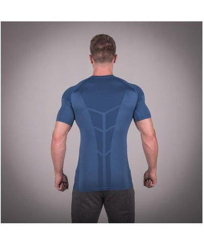 Squat Wolf Seamless Spyder T-Shirt Cobalt Blue-Squat Wolf-Gym Wear