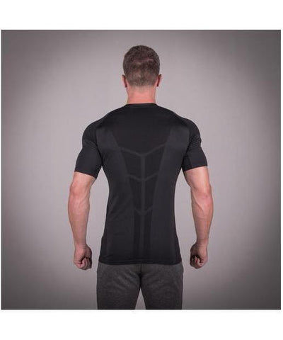 Squat Wolf Seamless Spyder T-Shirt Black-Squat Wolf-Gym Wear