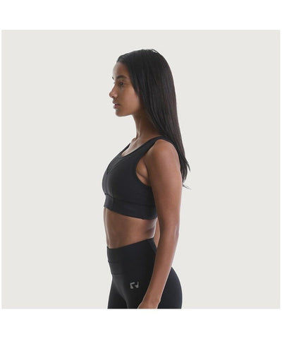 RIPT Performance Mesh Panelled Crop Top Black-RIPT-Gym Wear