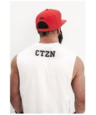 Citizen Zeus Logo Sleeveless T-Shirt White-Citizen Zeus-Gym Wear