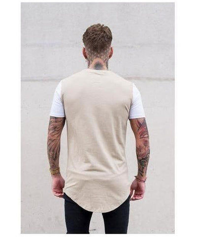 Sinners Attire Muscle T-Shirt Sand/White-Sinners Attire-Gym Wear