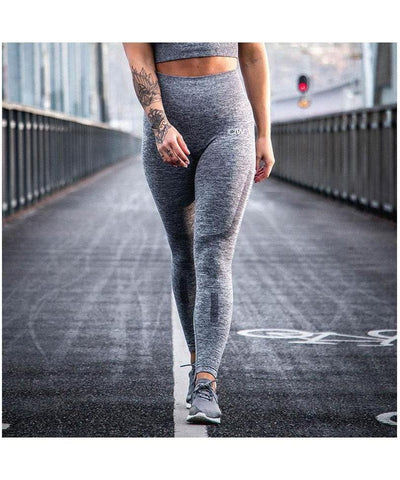 ICIW Seamless High Waisted Leggings Grey Melange