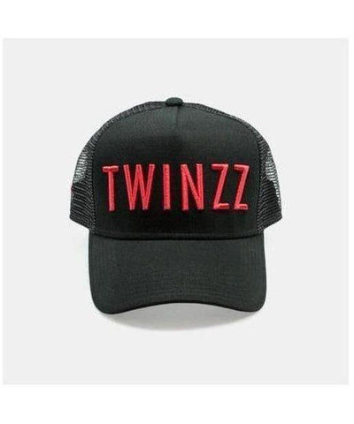 Twinzz 3D Mesh Trucker Cap Black/Red-Twinzz-Gym Wear