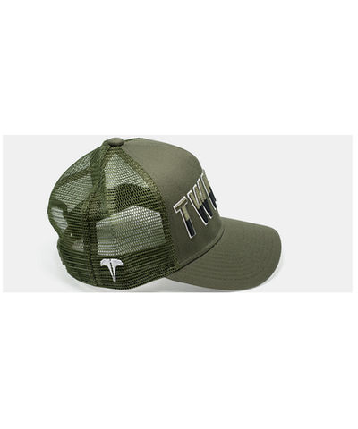 Twinzz Liquid Trucker Cap Khaki-Twinzz-Gym Wear